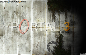 Portal 3 - Custom Wallpaper by DecadeofSmackdownV3
