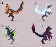 Fluffy Raptor Adopts! -CLOSED- by Taluns