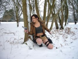 Lara Croft in cover by IXISerenityIXI