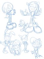 Sonic comics character sketches by Pavagat