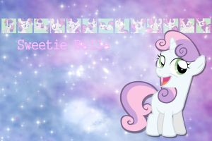 Sweetie Belle Wallpaper by phasingirl
