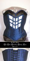 Overbust-Corset - TARDIS-design by Stahlrose