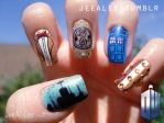 Doctor Who Nails by jeealee