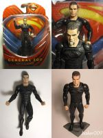 Man of Steel Zod  Movie Masters Custom Paint Apps by Baker009