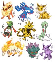 Pokemon collage 2 by emlan