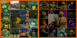 TMNT:: Mikey: collage: 2003/2012 by Culinary-Alchemist