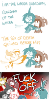 THE SEA OF DEATH QUIVERS BEFORE HIM by LillyNya