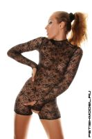 Lace Mini CatSuit 5 by agnadeviphotographer