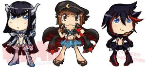 Kill la Kill Chibiset by Lui421