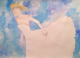 How beautiful white dress by Emma-is-drawing