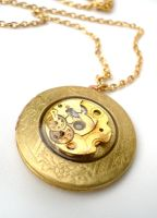 Steampunk Gear Locket Top by teatimeinc