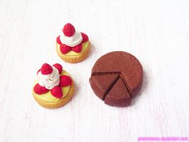 Strawberry Tart Charms and Chocolate Cake by kpossibles