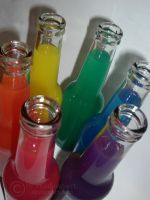 rainbow bottles by rainbow-art