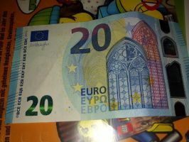The new 20 Euros Bank note spotted by Dialga22239