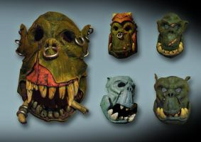 orc masks by tianouthefrenchy