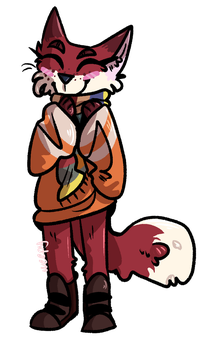 scarf fox by weepyfoxes