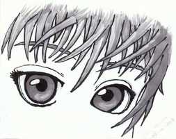 Mark Crilley's Pretty Eyes in Copic by BlackstarLily99