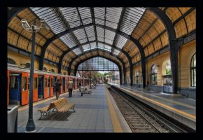 Waiting for the Train by Galanos-Orizontas