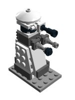 Lego Dalek - White by SilentCollector