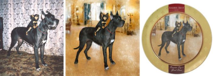 Russian Toy and Great Dane Dinner Plates by chante-cler