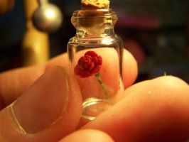 Tiny Rose Charm by littlemooglet