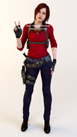 Claire Redfield Sniper Outfit Render by Ada-Momiji-Forever