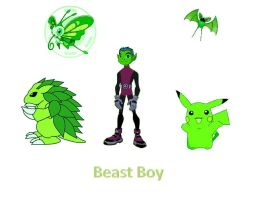 Beast boy and pokemons by juniorgustabo