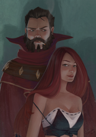 Graves and Miss Fortune by TychyTamara
