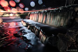 Light Trails and Silky Water by AzureSnow