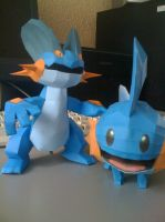 Mudkip n Swampert by Prife7