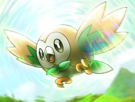 ROWLET ART by cscdgnpry