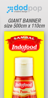 giant banner sambal Indofood by dodpop