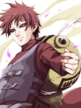 Gaara smiles! by AmazonianGoddess