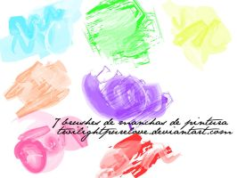 7 brushes manchas de pintura by twilightpurelove