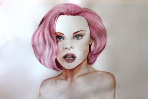 Cotton watercolour and ink 75cm by 55cm by jintyandrayne