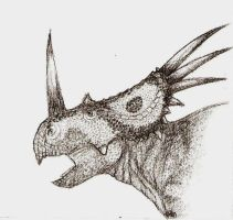 Styracosaurus by Ahrkeath