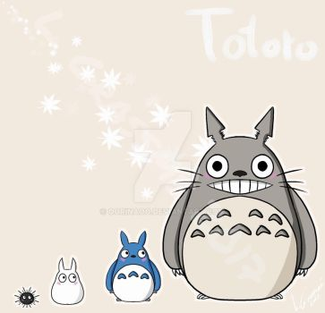 My Friendly Neightbour Totoro!  by oORinaOo