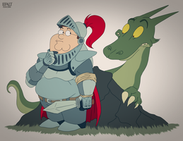 Peter and Dragon! by Efalt