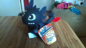 How To Train Your Dragon Night Fury Bop-Me Plush by PokeLoveroftheWorld