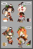 Sushi (sketch) adopts [closed] by paimon-adopts