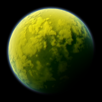 Yellow-Green Planet by LordStephen