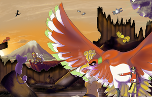 PKMN - Commanding Ho-Oh by Koorii