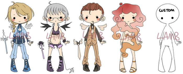 Adopts: Magical Girls and Boys (OPEN) by LeapingLamb