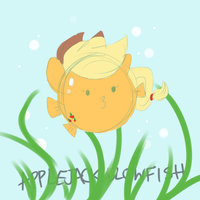 You're a blowfish, Applejack by Cuddlepug