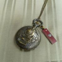 Hogwart's express altered antiqued pocket watch by TinySociety