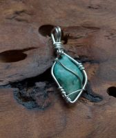 small turquoise pendant F by lamorth-the-seeker