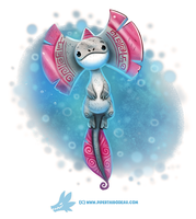 Daily Paint #1243. Axe-lotl by Cryptid-Creations