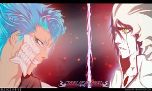 Grimmjow and Ulquiorra by Rikishi88