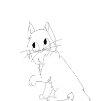 Free warrior cat lineart by X-CoyoteFeathers-X