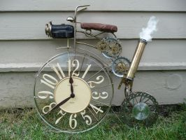 Steampunk Bicycle Wall Clock by wildebore